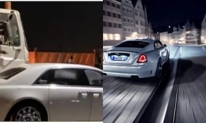 Funny! Truck driver refuses to overtake a Rolls Royce in Lagos traffic (Watch video)
